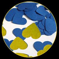Конфеті жовто-блактині сердечка