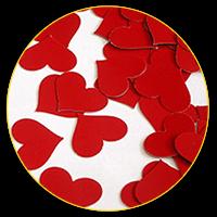Конфеті червоні сердечка