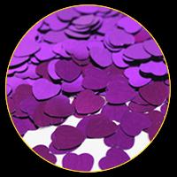 Конфеті фіолетові сердечка