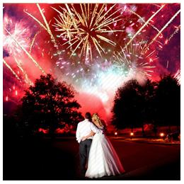 Феєрверки на весілля, весільний феєрверк