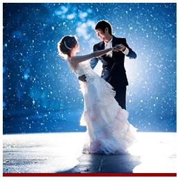 Штучний сніг на перший танець весілля